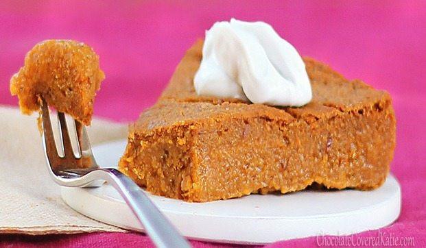 Low Calorie Pumpkin Dessert Recipes  Crustless Pumpkin Pie low calorie recipe