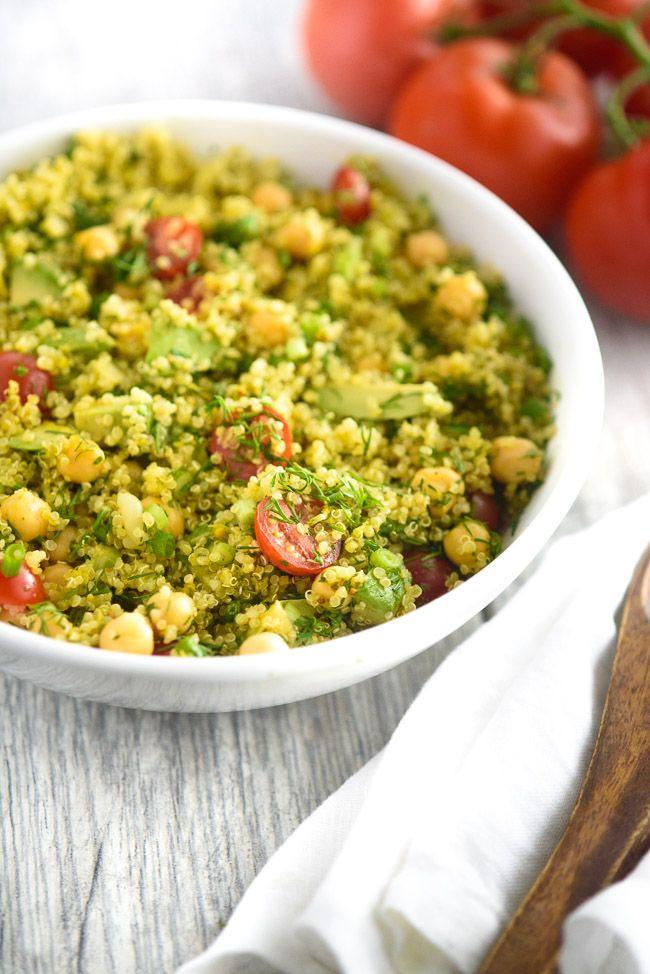 Low Calorie Quinoa Salad  Dill Chickpea Lemon Quinoa Salad Recipe