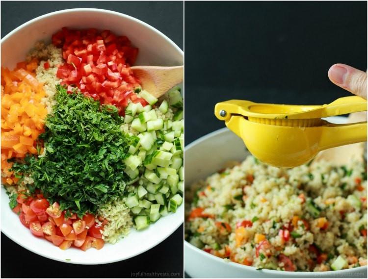 Low Calorie Quinoa Salad  Quinoa Tabbouleh Salad