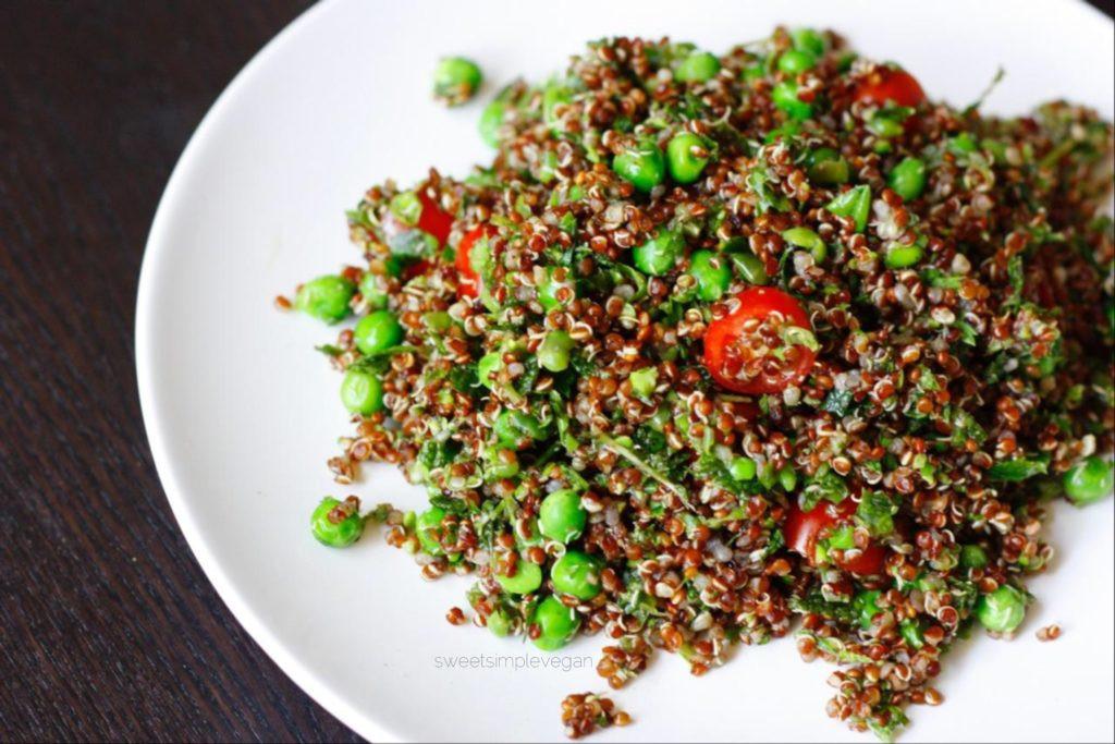 Low Calorie Quinoa Salad  Herbed Quinoa Salad Low fat Oil free Sweet Simple Vegan
