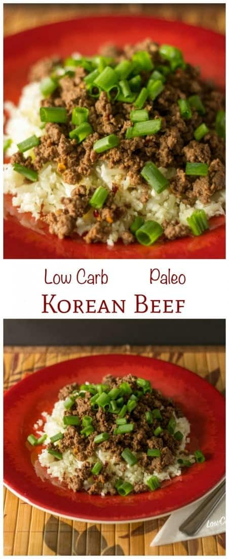Low Calorie Recipes Ground Beef  Korean Beef Paleo and Low Carb