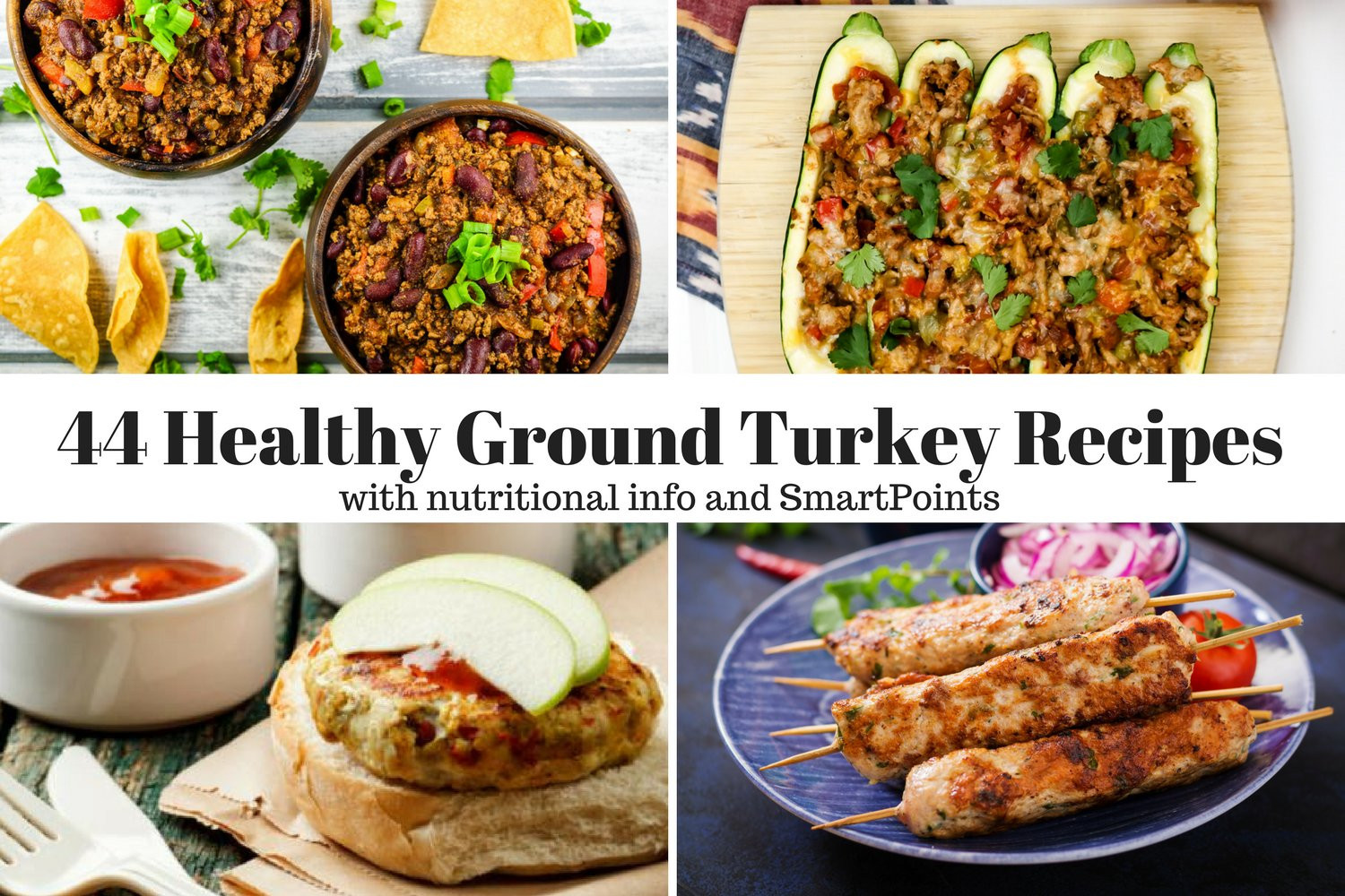 Low Calorie Recipes With Ground Turkey  Forty Four Healthy Ground Turkey Recipes Slender Kitchen