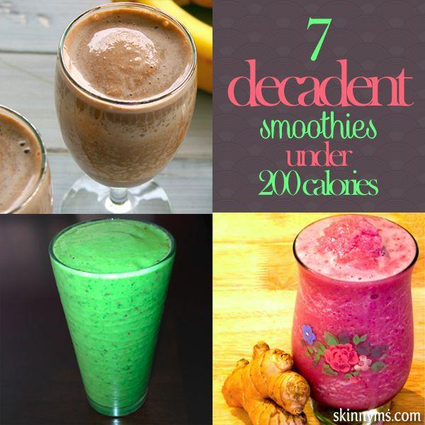 Low Calorie Smoothies Under 100 Calories  1000 ideas about 200 Calories on Pinterest