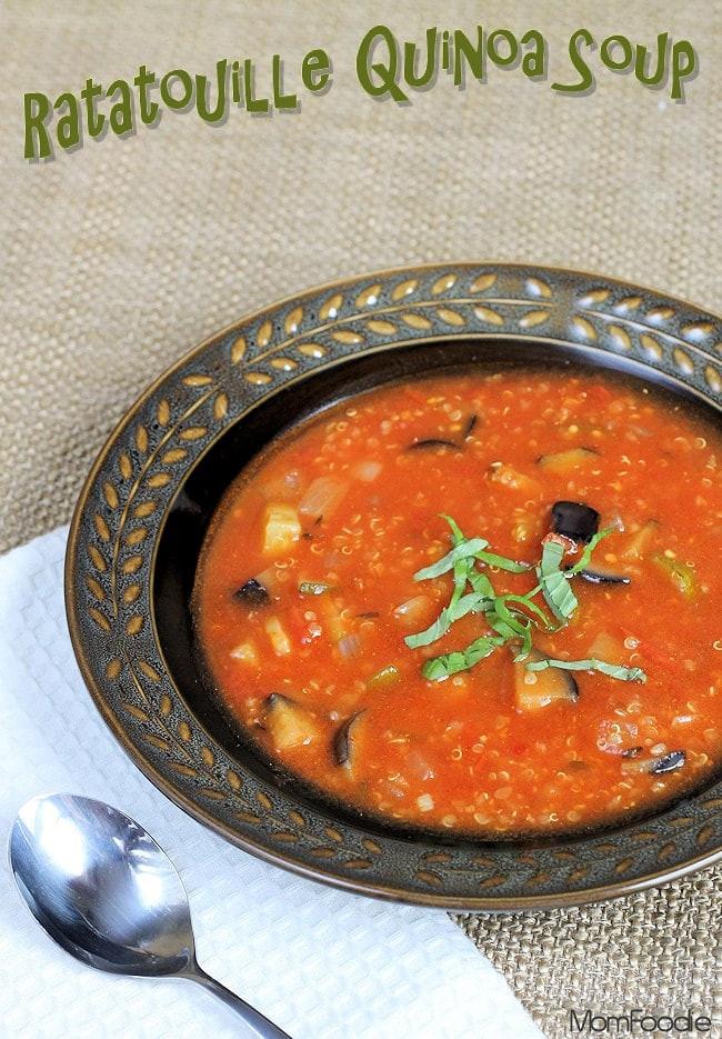 Low Calorie Soup Recipes Under 100 Calories  Ratatouille Quinoa Soup Recipe Quick Healthy Soup Under