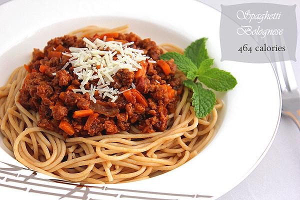 Low Calorie Spaghetti  Spaghetti Bolognese Low Calorie
