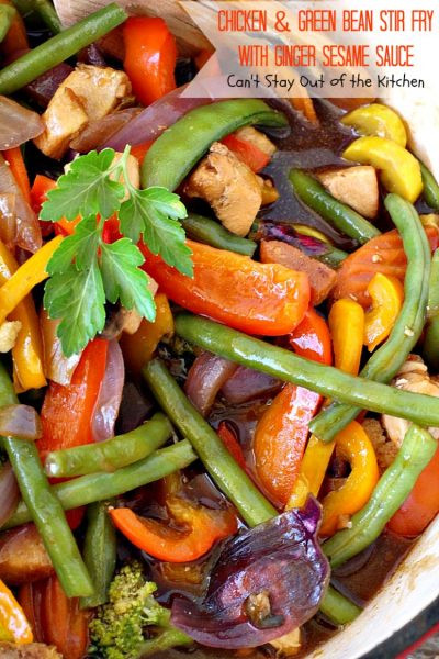 Low Calorie Stir Fry Sauce Recipes  Chicken and Green Bean Stir Fry with Ginger Sesame Sauce