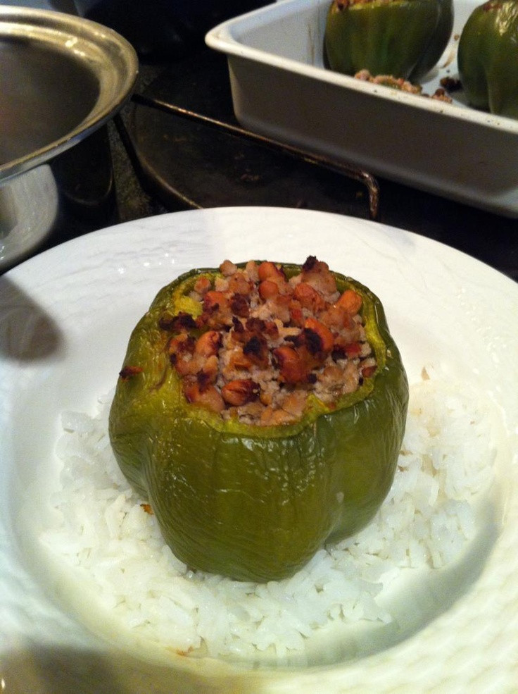 Low Calorie Stuffed Bell Peppers  Low calorie fat stuffed Green Peppers Yummy