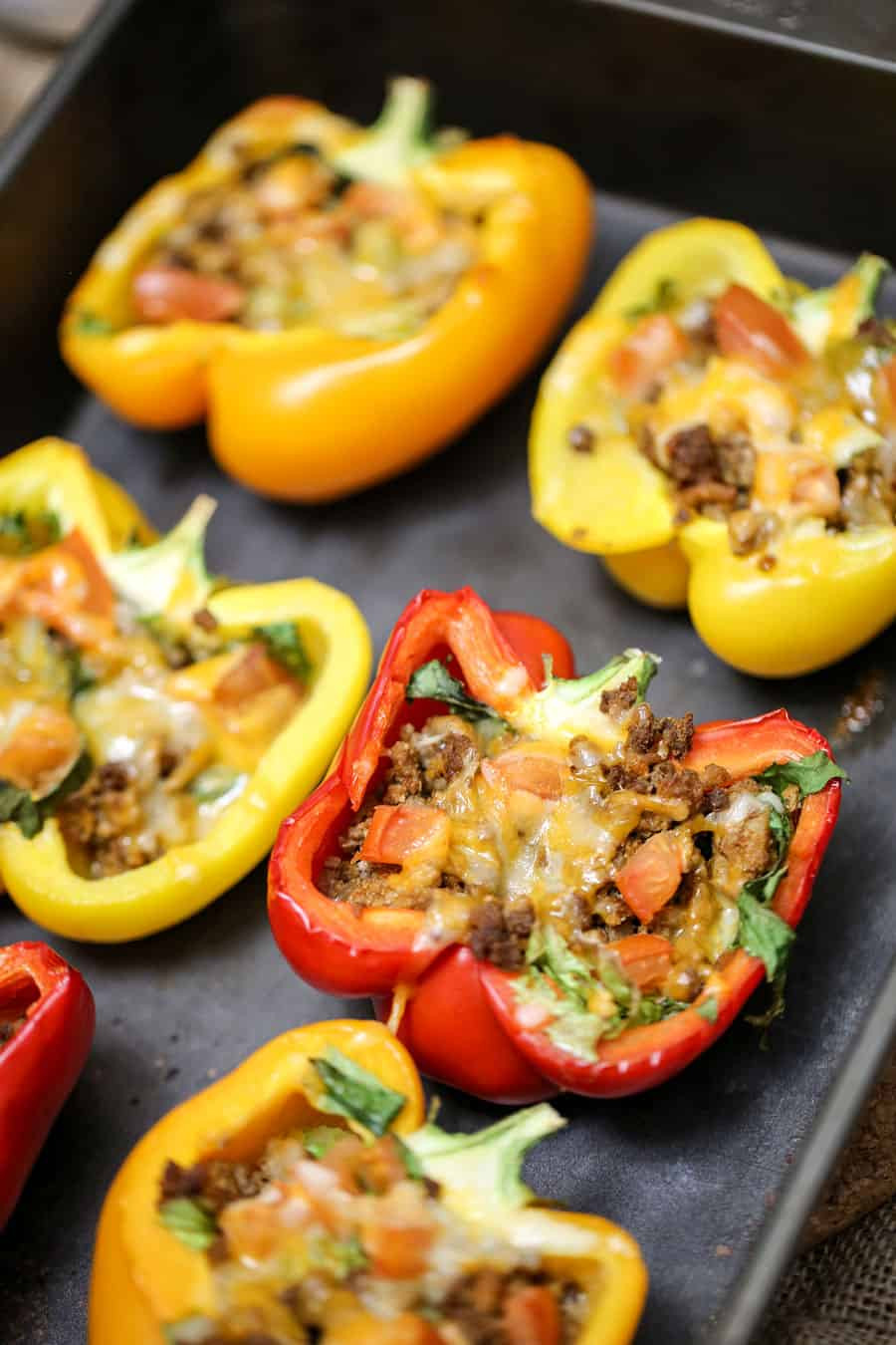 Low Calorie Stuffed Bell Peppers  Bell Pepper Stuffed Tacos