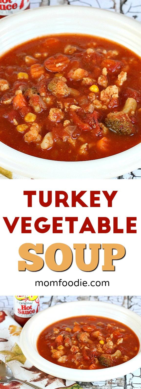 Low Calorie Vegetable Recipes  Turkey Ve able Soup Recipe an easy low calorie soup