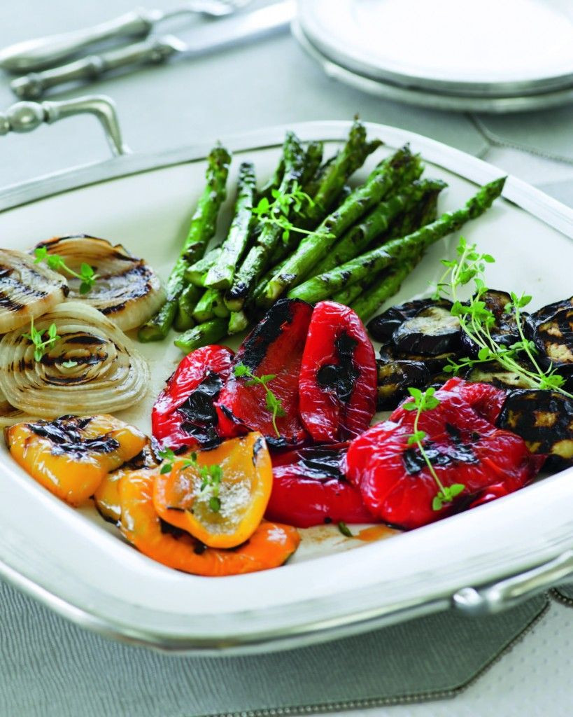 Low Calorie Vegetable Side Dishes  Grilled Veggies Stu s show veggies are low fat no