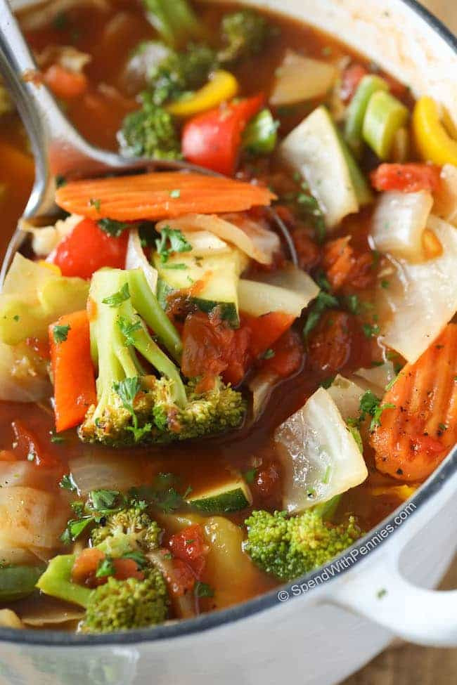 Low Calorie Vegetable Side Dishes  Weight Loss Ve able Soup w Amazing Flavor Spend