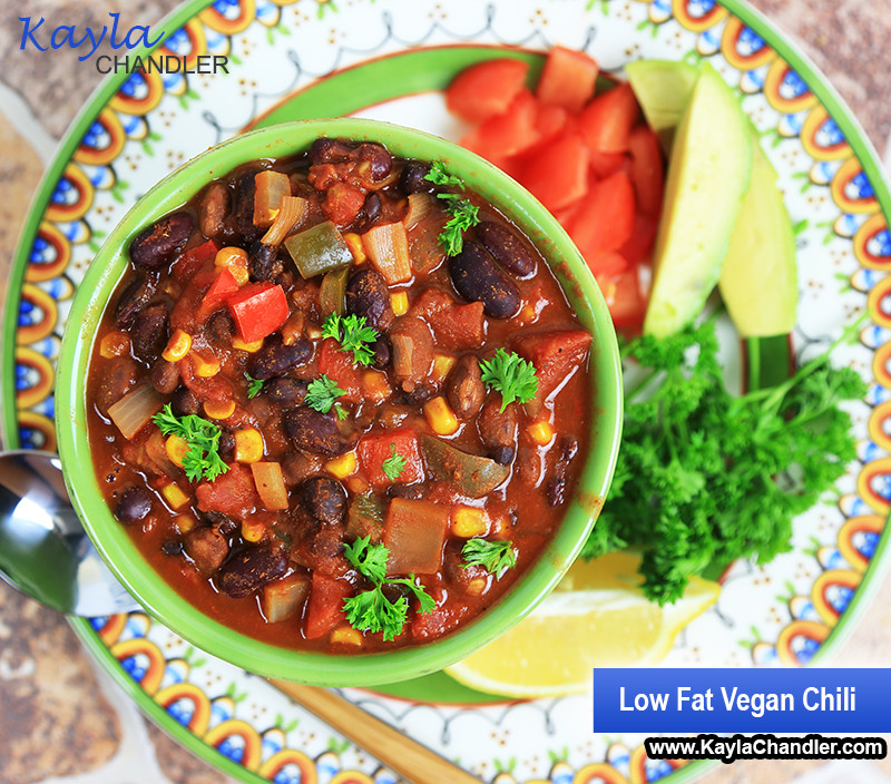 Low Calorie Vegetarian Chili  Gluten Free Healthy Hearty Chili Recipe with Vegan