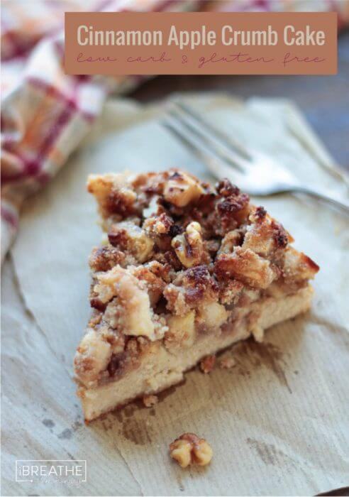 Low Carb Apple Recipes  Cinnamon Apple Crumb Cake Low Carb & Gluten Free