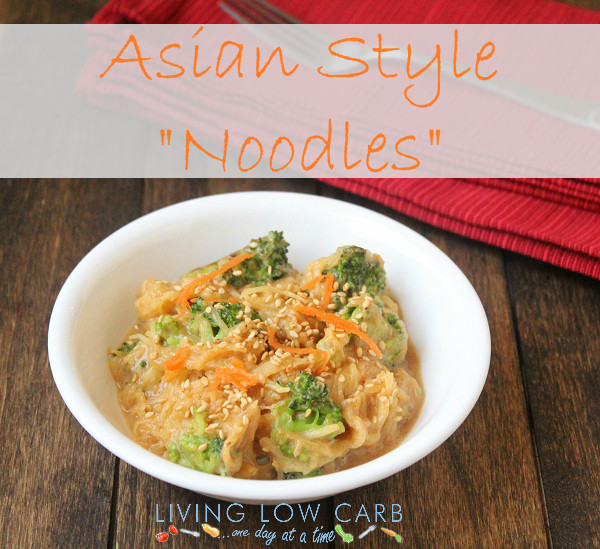 "Low Carb Asian Noodles  Asian Style ""Noodles"" Low Carb and Paleo Holistically"