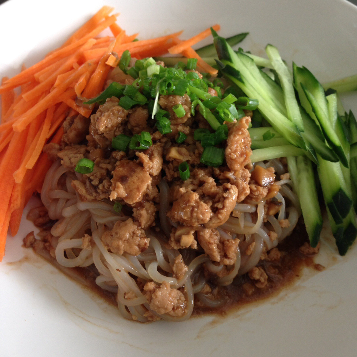 Low Carb Asian Noodles  Low Carb Zha Jiang Mian Chinese Minced Meat Noodles