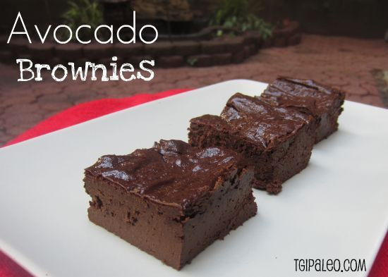 Low Carb Avocado Brownies  25 Sweet Treats With Hidden Avocado Grain Free Paleo