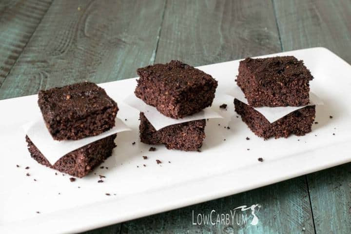 Low Carb Avocado Brownies  Chocolate Avocado Brownies with No Sugar Added