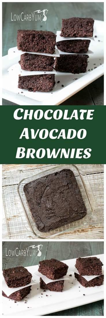 Low Carb Avocado Brownies  Chocolate Avocado Brownies
