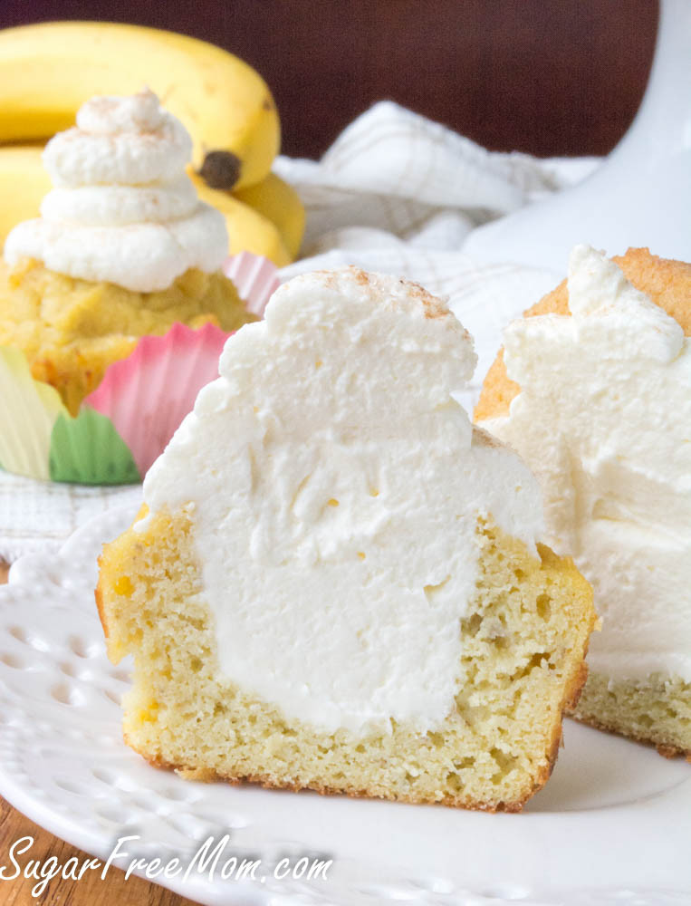 Low Carb Banana Cream Pie  Low Sugar Low Carb Banana Cream Pie Cupcakes