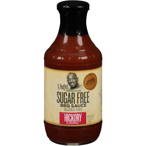 Low Carb Bbq Sauce Walmart  G Hughes Smokehouse Sugar Free BBQ Sauce Hickory Flavored
