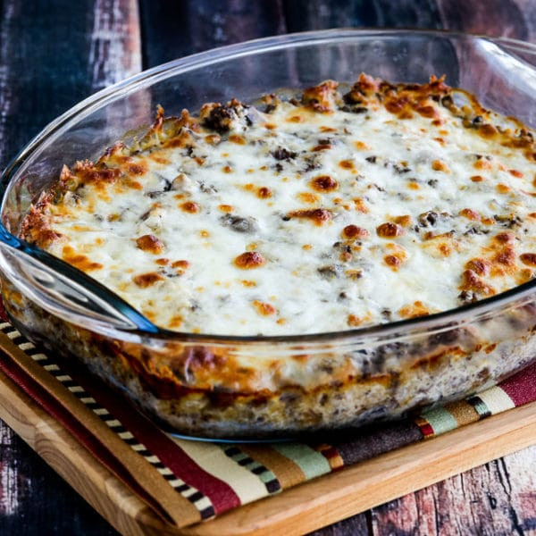 Low Carb Beef Casserole  Low Carb Ground Beef Stroganoff Casserole with Cauliflower