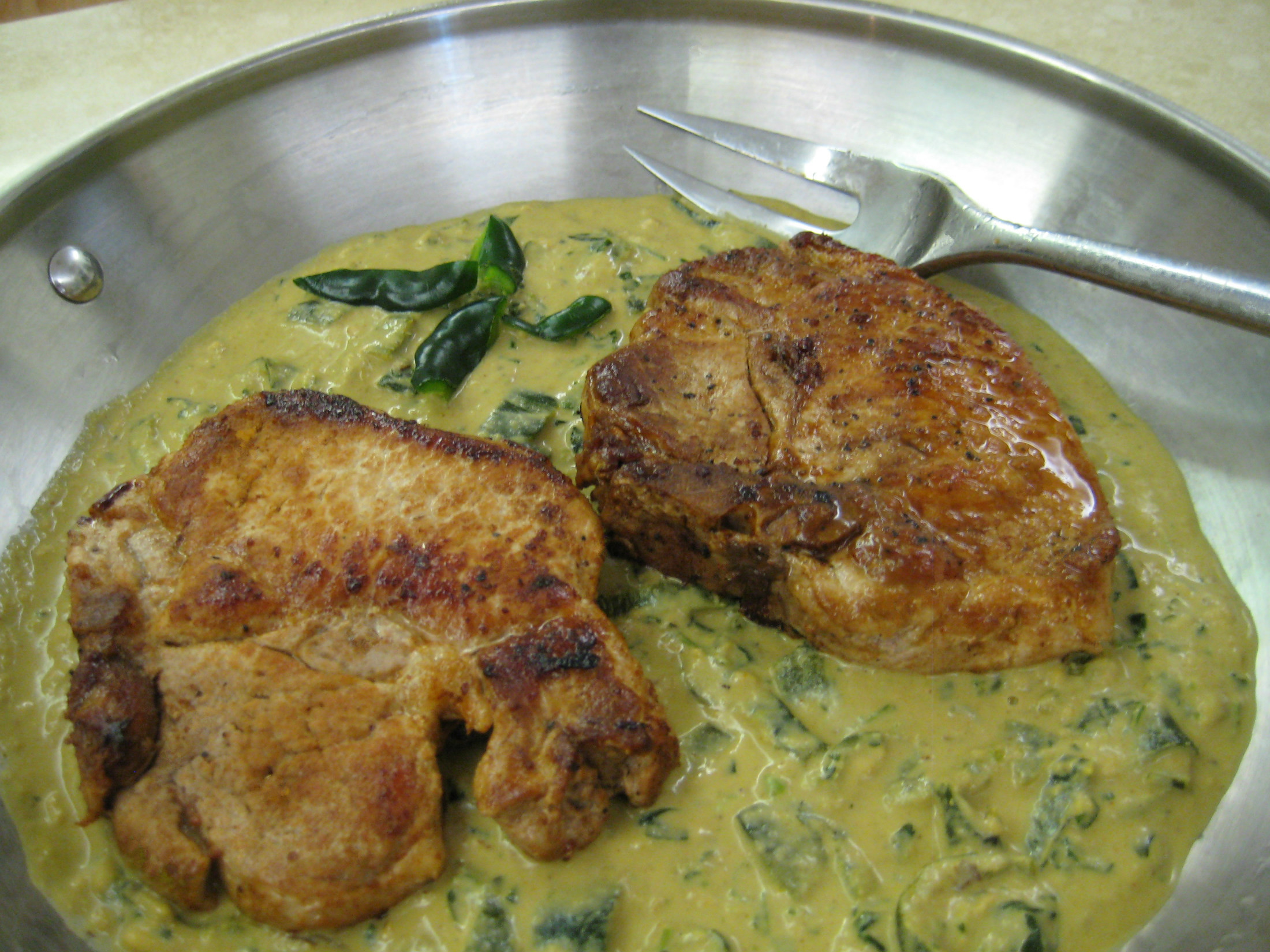 Low Carb Boneless Pork Chop Recipes  Pork Chops with Roasted Poblano Gravy