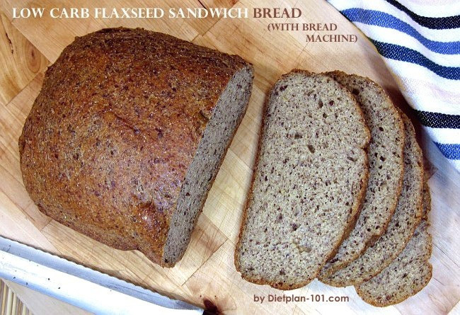 Low Carb Bread Recipes For Bread Machines  Low Carb Flaxseed Sandwich Bread with Bread Machine