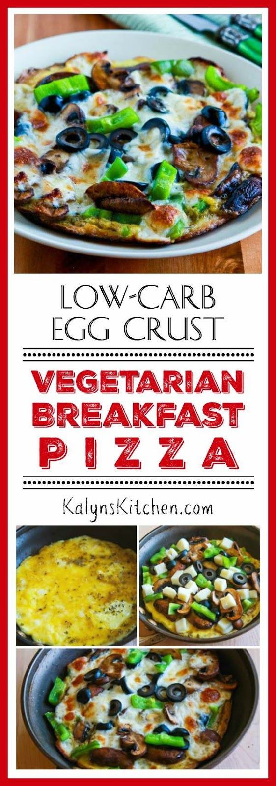 Low Carb Breakfast Pizza  Low Carb Egg Crust Ve arian Breakfast Pizza this