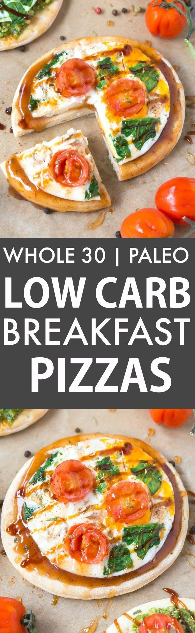Low Carb Breakfast Pizza  Healthy Low Carb Breakfast Pizza Paleo Gluten Free