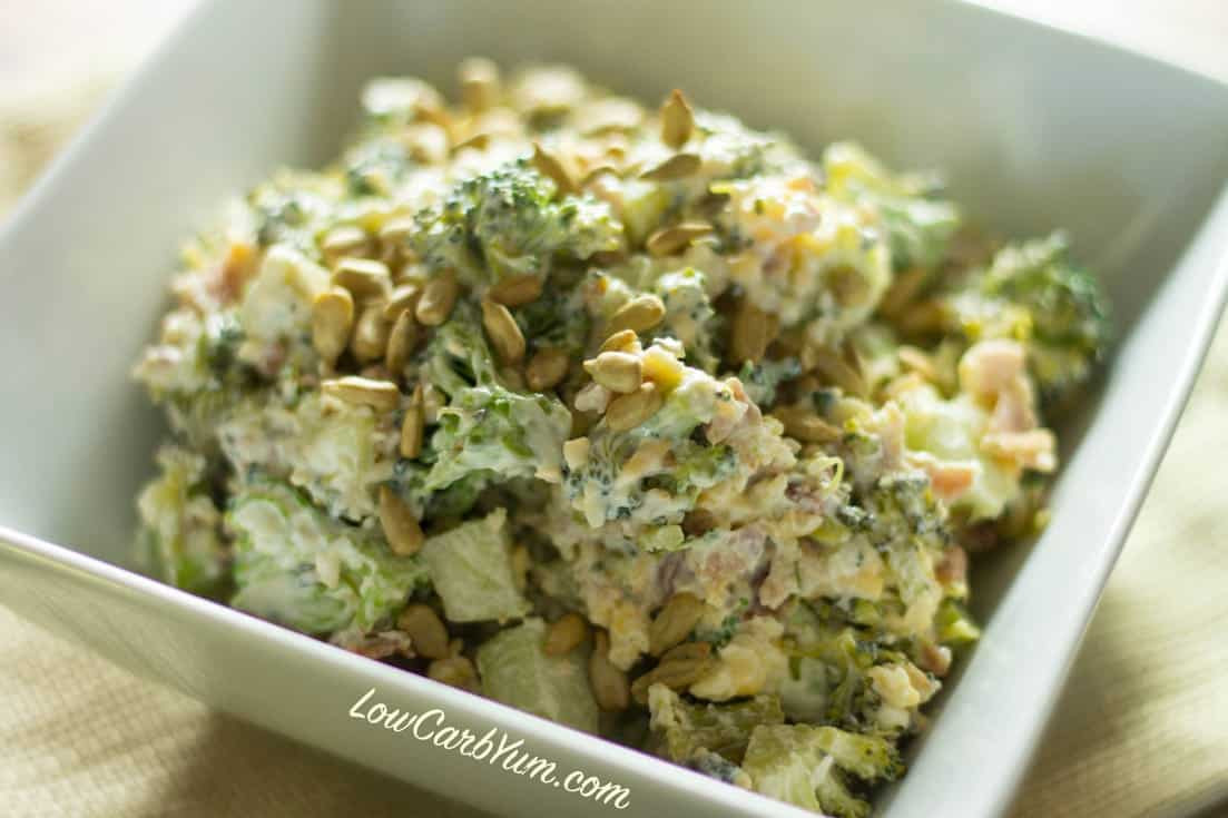 Low Carb Broccoli Salad  Bacon Cheddar Broccoli Salad