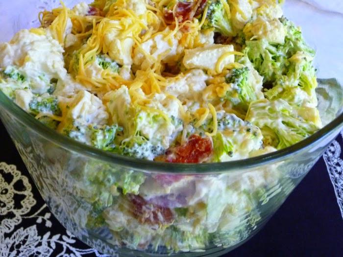 Low Carb Broccoli Salad  SPLENDID LOW CARBING BY JENNIFER ELOFF AMISH BROCCOLI SALAD