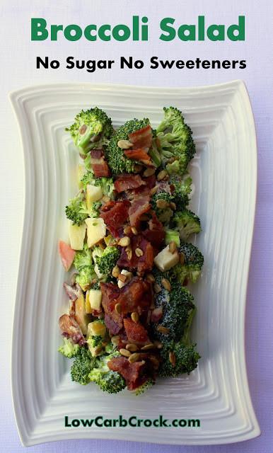 Low Carb Broccoli Salad  Low Carb Broccoli Salad NO sugar NO artificial sweetener