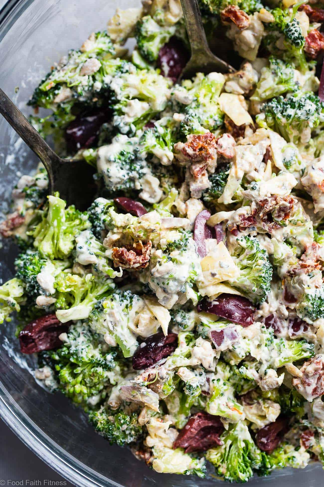 Low Carb Broccoli Salad  Easy Mediterranean Low Carb Broccoli Salad