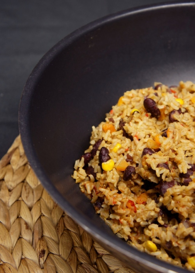 Low Carb Brown Rice  Brown Rice with Corn and Beans
