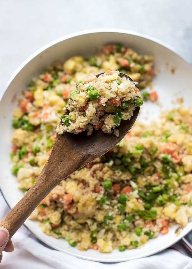 Low Carb Brown Rice  Cauliflower Fried Rice Recipe Cooking LSL