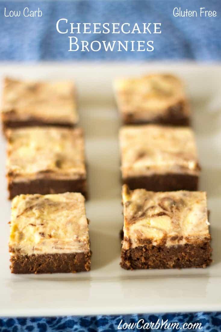 Low Carb Brownies Cream Cheese  Cheesecake Brownies Gluten Free