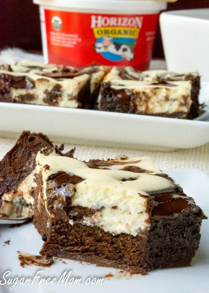 Low Carb Brownies Cream Cheese  Sugar Free Cheesecake Brownies Gluten Free and Low Carb
