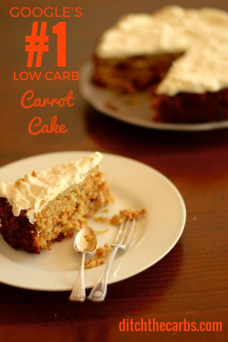 Low Carb Cake Recipes  Low Carb Carrot Cake with Cream Cheese Frosting