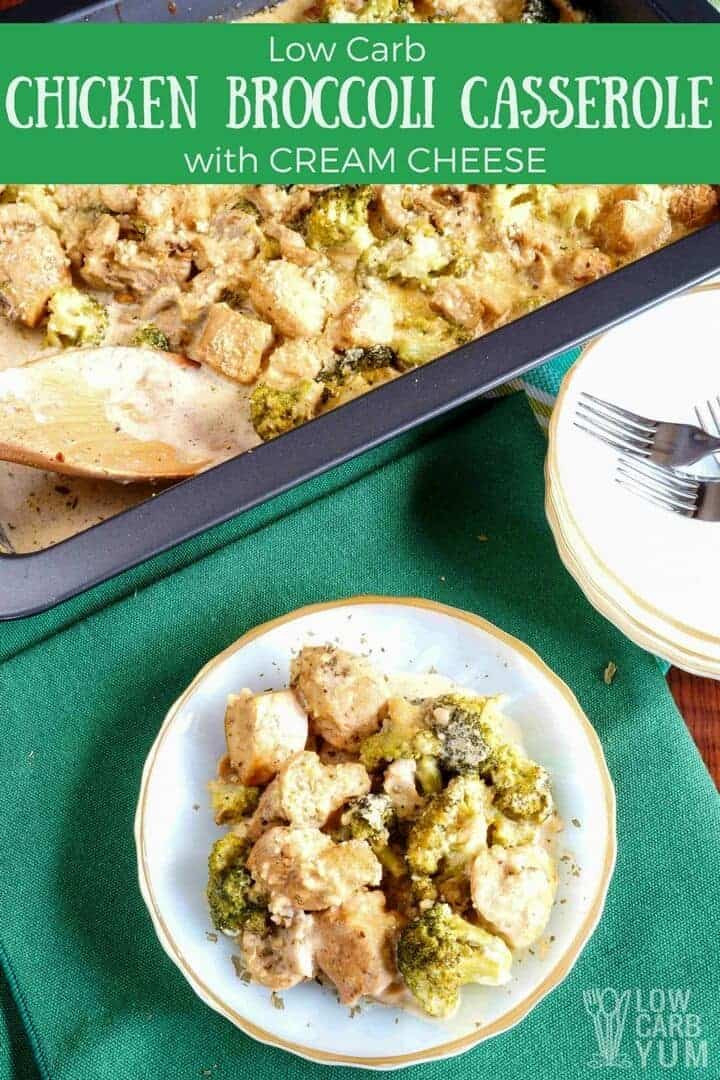 Low Carb Chicken And Broccoli Casserole  Low Carb Chicken Broccoli Casserole with Cream Cheese