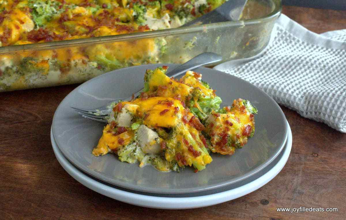 Low Carb Chicken Bacon Ranch Casserole  Bacon Ranch Chicken Casserole Low Carb THM S Joy