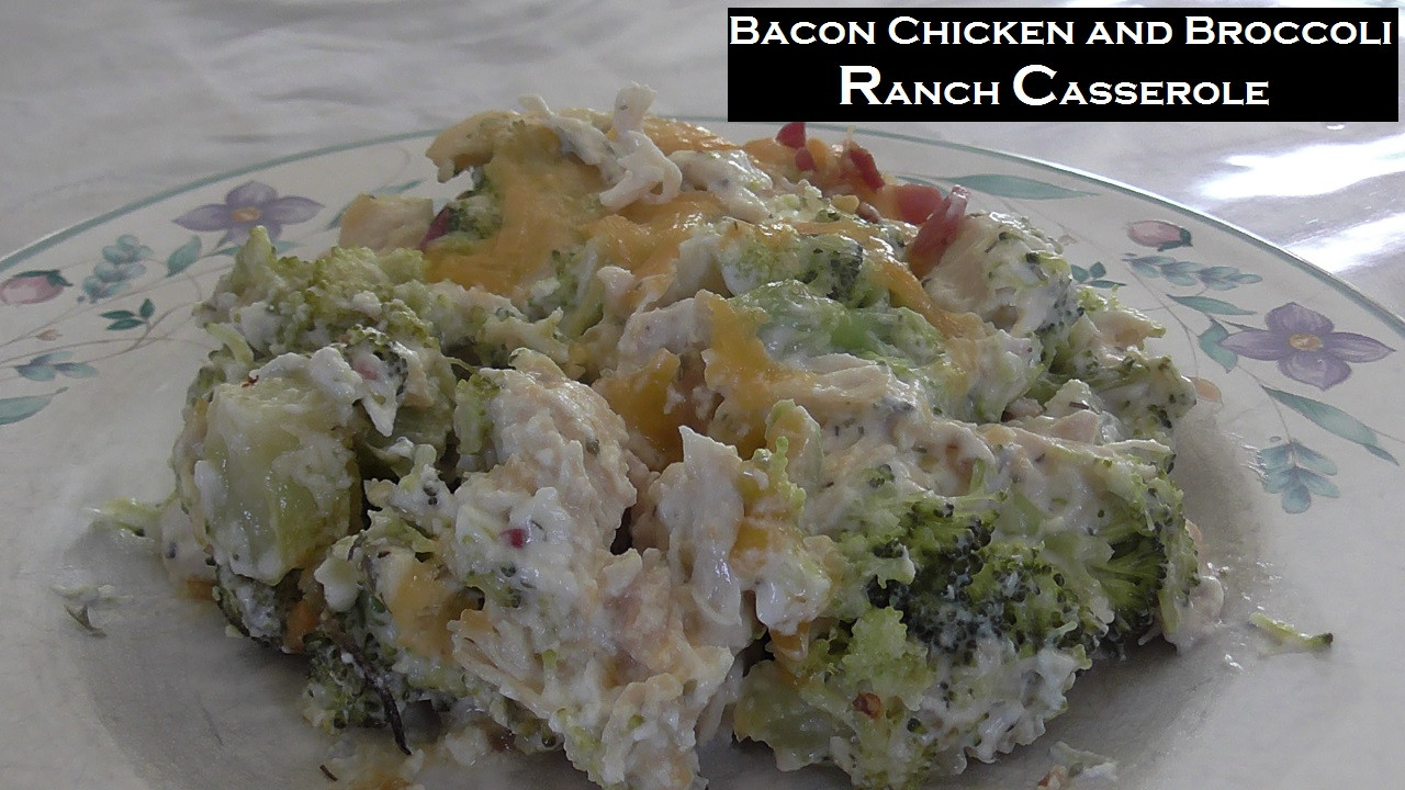 Low Carb Chicken Bacon Ranch Casserole  Low Carb Bacon Chicken and Broccoli Ranch Casserole THM
