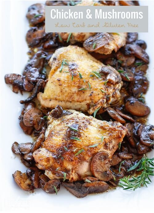 Low Carb Chicken Skillet Recipes  Skillet Chicken & Mushrooms Low Carb & Paleo
