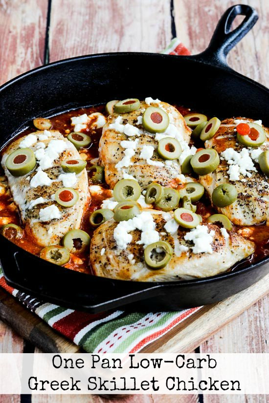 Low Carb Chicken Skillet Recipes  Kalyn s Kitchen e Pan Low Carb Greek Skillet Chicken