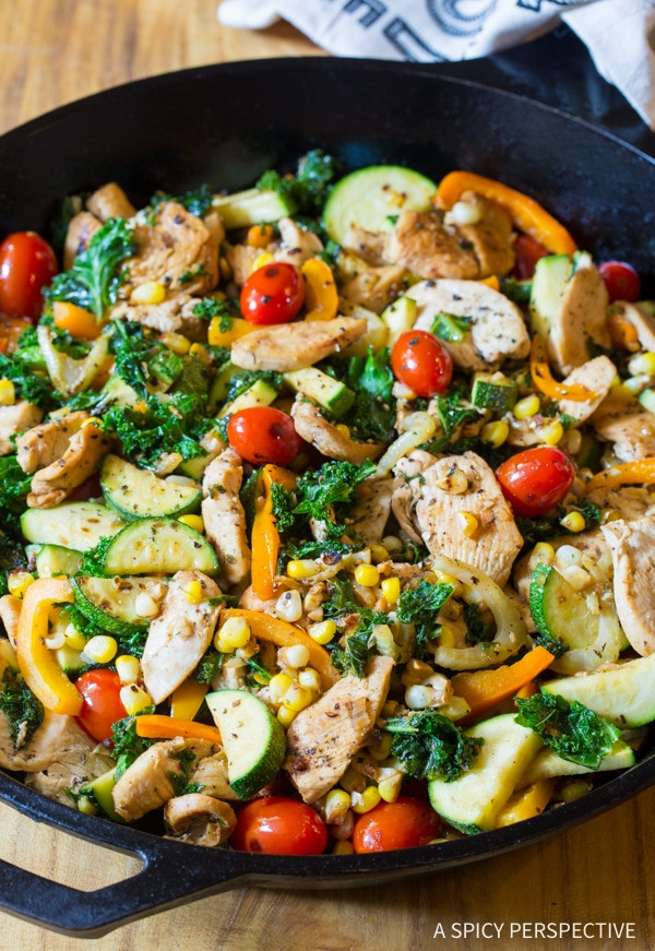 Low Carb Chicken Skillet Recipes  Low Carb Market Chicken Skillet Page 2 of 2 A Spicy