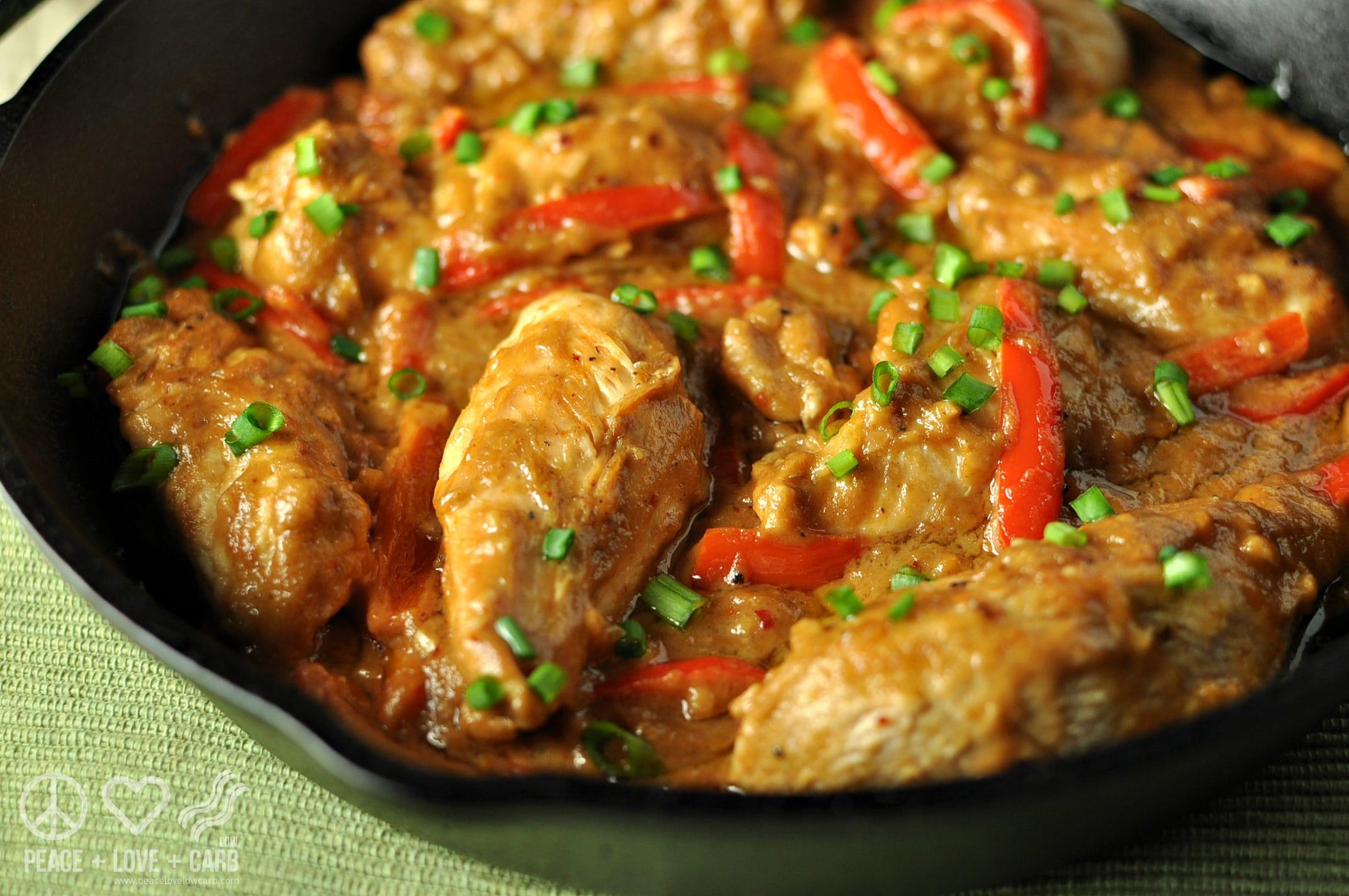 Low Carb Chicken Skillet Recipes  Low Carb Peanut Chicken Skillet