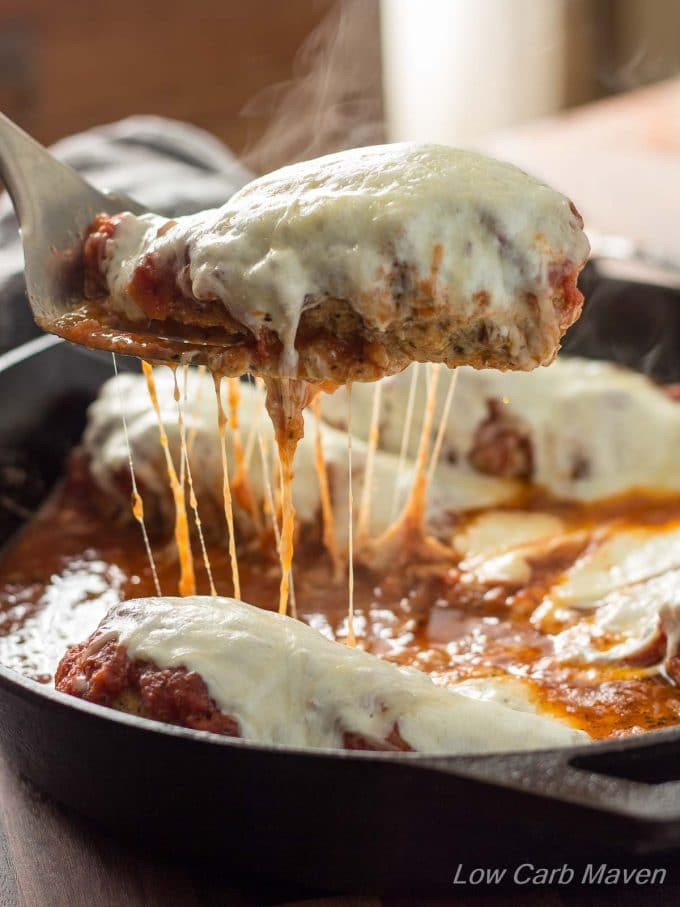 Low Carb Chicken Skillet Recipes  Low Carb Chicken Parmesan In A Skillet