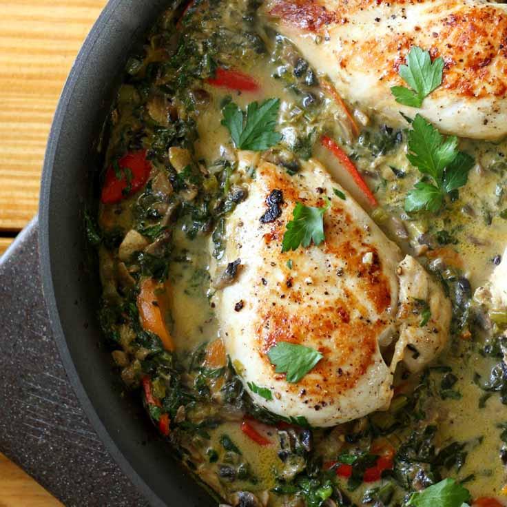 Low Carb Chicken Skillet Recipes  12 Healthy Diabetic Chicken Recipes