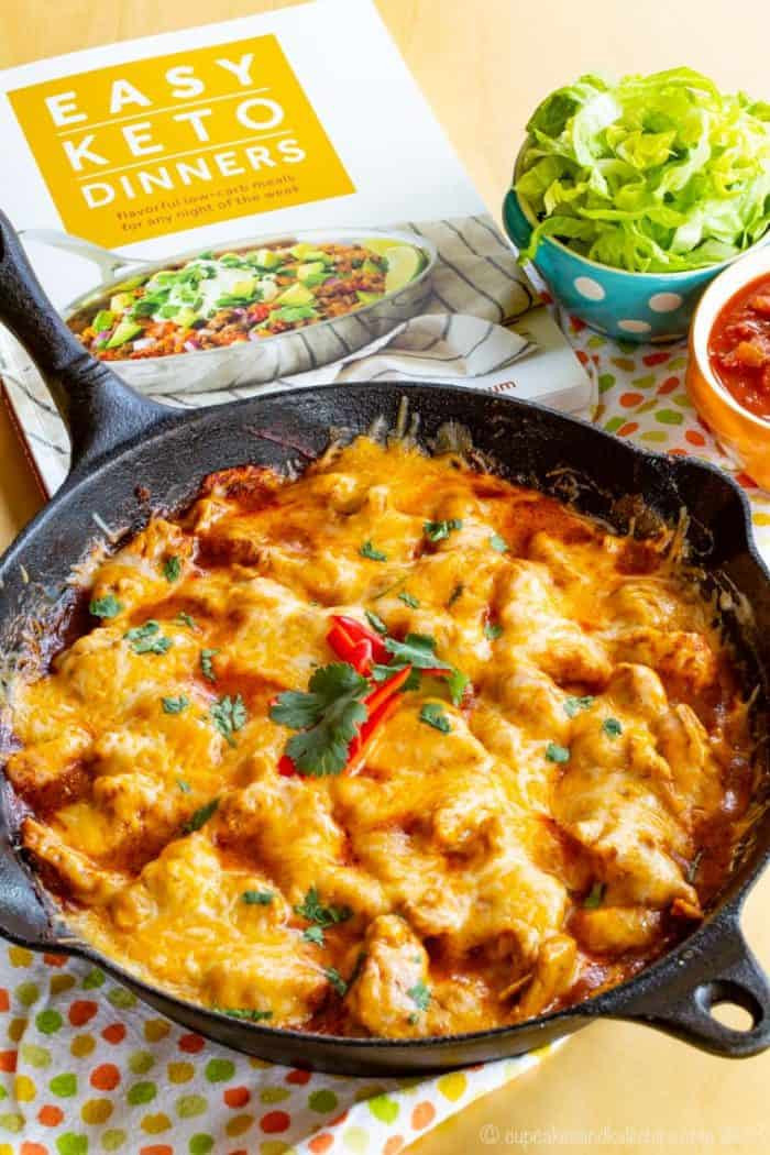 Low Carb Chicken Skillet Recipes  Chicken Enchilada Skillet Cupcakes & Kale Chips