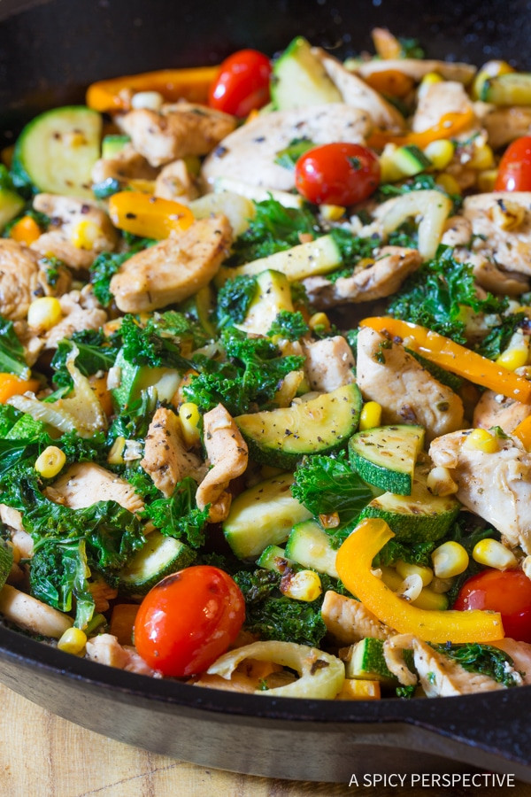 Low Carb Chicken Skillet Recipes  Low Carb Market Chicken Skillet A Spicy Perspective