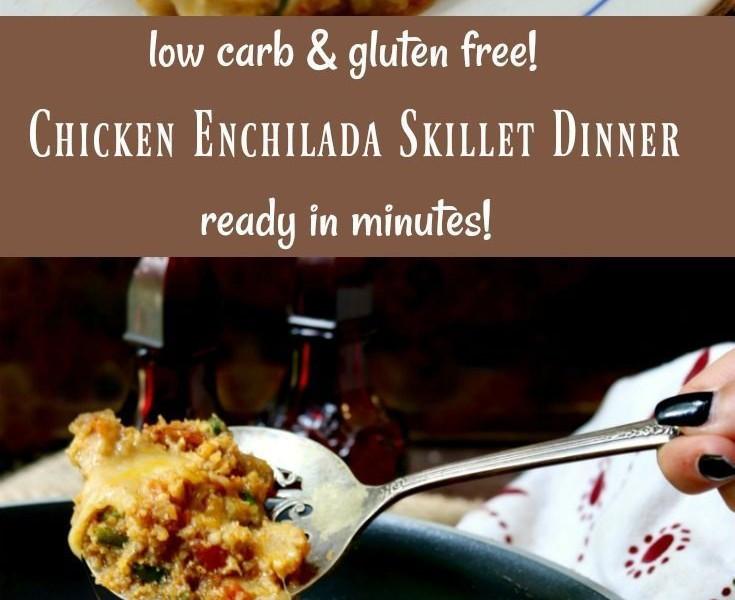 Low Carb Chicken Skillet Recipes  Monchoso e pan chicken enchilada skillet dinner